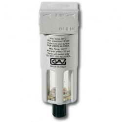 """GAV F-180 Фильтр (Пропускная способность 350л/мин, Давление 12Атм, Вход/выход 1/4"""", Степень фильтрации 10мкр) GAV Запчасти Пневматический"""