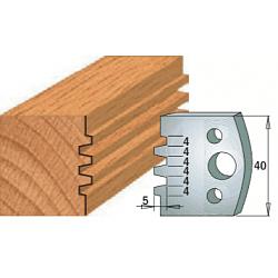 Комплекты ножей и ограничителей серии 690/691 #076 CMT Ножи и ограничители для фрез 40 мм Ножи