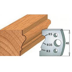 Комплекты ножей и ограничителей серии 690/691 #081 CMT Ножи и ограничители для фрез 40 мм Ножи