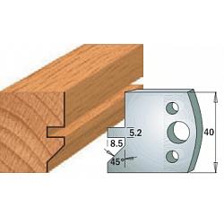 Комплекты ножей и ограничителей серии 690/691 #084 CMT Ножи и ограничители для фрез 40 мм Ножи